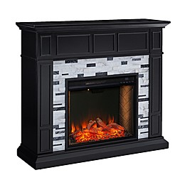 Southern Enterprises© Drovling Alexa-Enabled Marble Electric Fireplace in Black