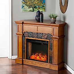 Southern Enterprises© Cartwright Corner Convertible Faux Stone Electric Fireplace Collection