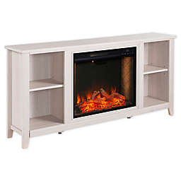 Southern Enterprises Parkdale Alexa-Enabled Slim Media Stand Electric Fireplace