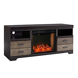 Southern Enterprises© Shroplynn Media Console Electric Fireplace in Ebony