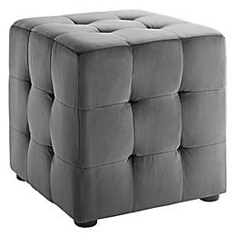 Modway Contour Velvet Cube Ottoman