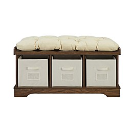 Forest Gate™ Entryway Storage Bench with Totes in Walnut