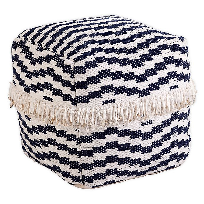 Alternate image 1 for Southern Enterprises© Placenzia Square Woven Pouf in Blue