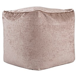 Intelligent Design Aria Chenille Square Pouf