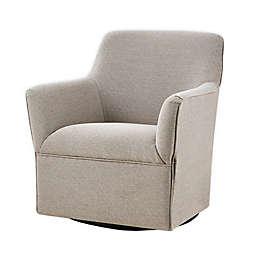 Madison Park Augustine Swivel Glider Chair in Grey
