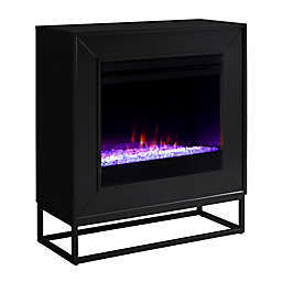 Holly & Martin® Frescan Color Changing Electric Fireplace in Black