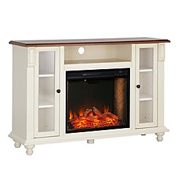Carlinville Alexa-Enabled Fireplace in White
