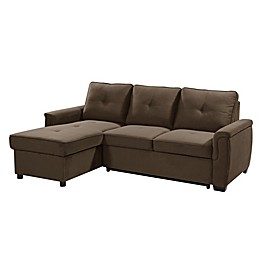 Lifestyle Solutions® Serta® Logan Microfiber Sectional Sofa with Storage in Antler