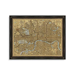 46-Inch x 36-Inch Map of London Framed Art