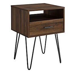 Forest Gate™ Harlow 1-Drawer End Table in Dark Walnut