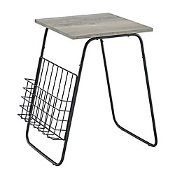 Forest Gate™ 15.75-Inch Square End Table with Magazine Rack