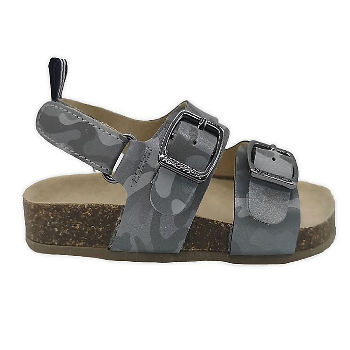 Alternate image 1 for Nautica® Grey Camo Sandal