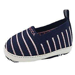 Nautica® Pink Stripe Slip-On Shoe in Navy