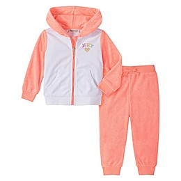Juicy Couture® 2-Piece Hoodie and Pant Set in Coral