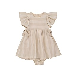 Jessica Simpson 2-Piece Stripes and Bows Dress and Panty Set in Sea Salt