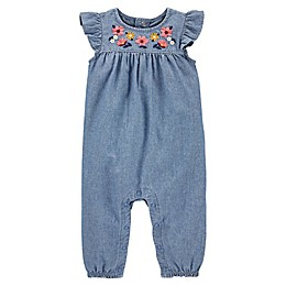 carter's® Floral Chambray Jumpsuit