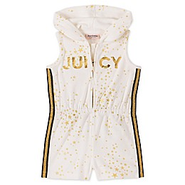 Juicy Couture® Terry Cloth Star Romper in Cream