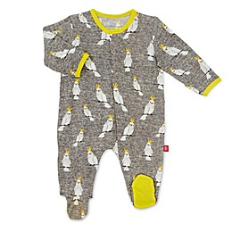Magnetic Me® by Magnificent Baby Whoo Hoo Cockatoo Magnetic Footie in Grey