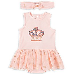 Juicy Couture® 2-Piece Sunsuit and Headband Set in Rose Gold