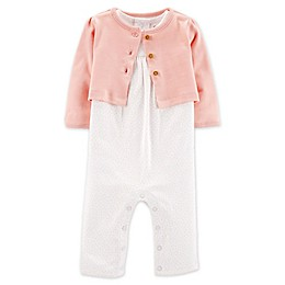 carter's® 2-Piece Coverall and Cardigan Set in Ivory