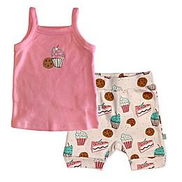 Finn by Finn + Emma® 2-Piece Sweet Treats Organic Cotton Cami Tee and Short Set