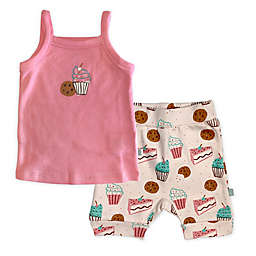 Finn by Finn + Emma® Size 0-3M 2-Piece Sweet Treats Organic Cotton Cami Tee and Short Set