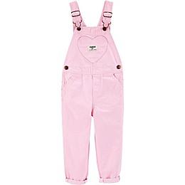 OshKosh B'gosh® Pink Heart Hickory Striped Overalls
