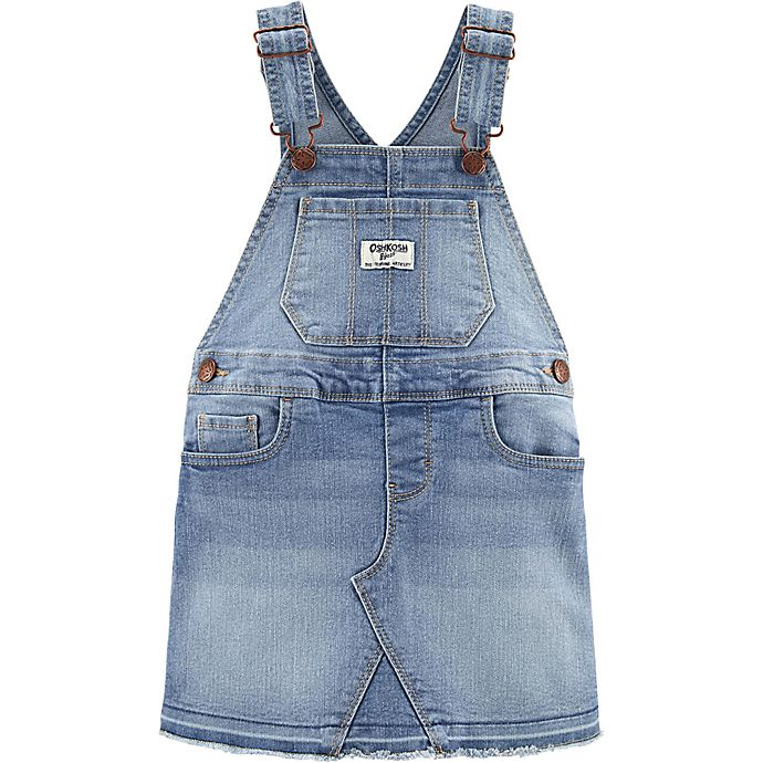 Alternate image 1 for OshKosh B'gosh® Denim Skirtall in Sky Blue Wash