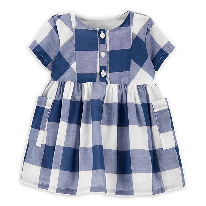Alternate image 1 for OshKosh B'gosh® Checkered Dress in Plaid