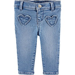 OshKosh B'gosh® Chambray Heart Pocket Jeggings