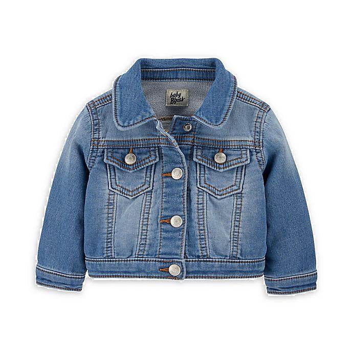 Alternate image 1 for OshKosh B'gosh® Knit Denim Collar Jacket