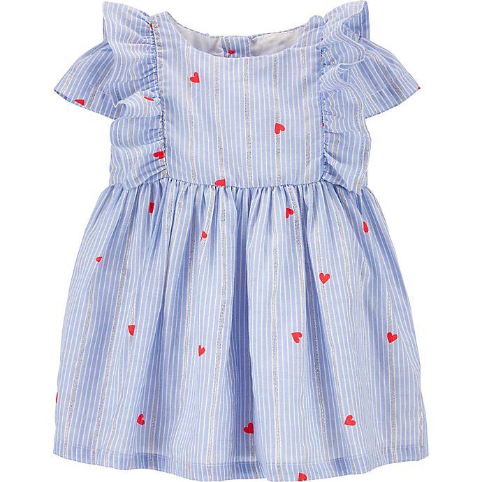 Alternate image 1 for OshKosh B'gosh® Ruffle Heart Print Dress
