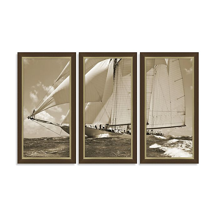 Yacht 3-Piece Wall Art