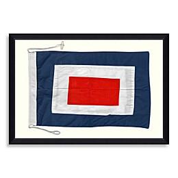 Framed Nautical Flag Shadow Box 2