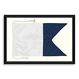 Framed Nautical Flag Shadow Box 3