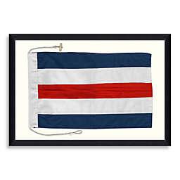 Nautical Flag 4 27-Inch x 19-Inch Shadow Box Framed Wall Art