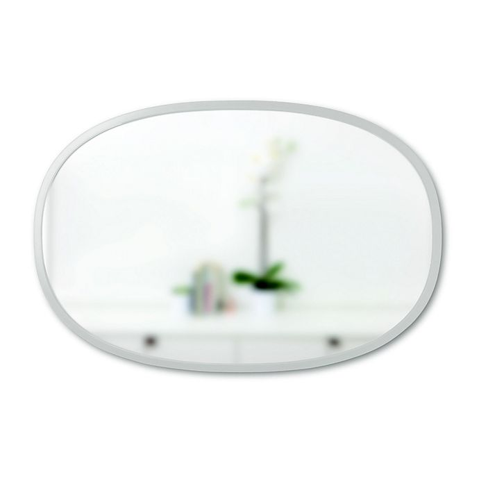 Alternate image 1 for Umbra® Hub 24-Inch x 36-Inch Oval Wall Mirror in Grey