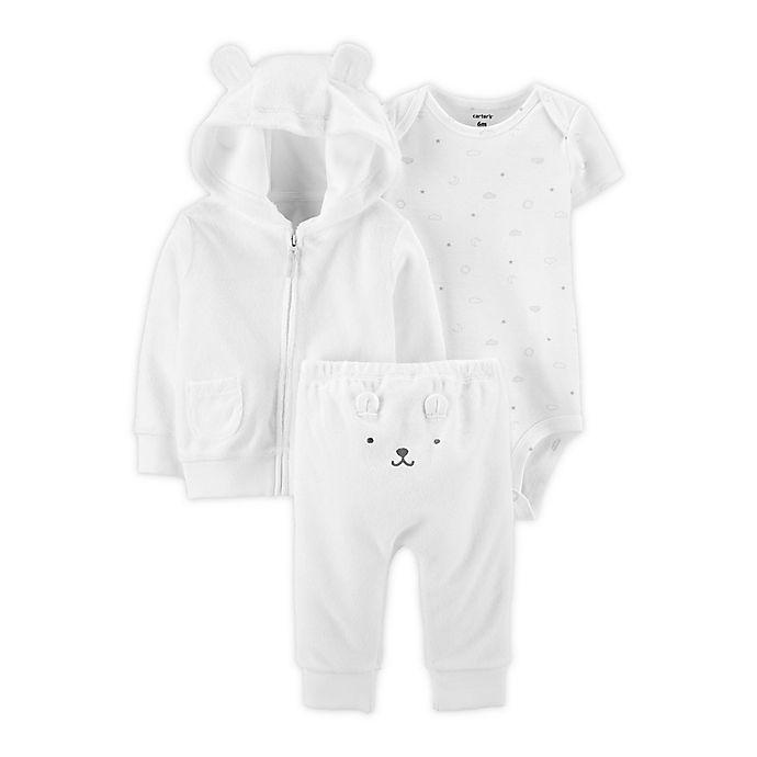 Alternate image 1 for carter's® 3-Piece Bear Little Jacket, Bodysuit, and Pant Set