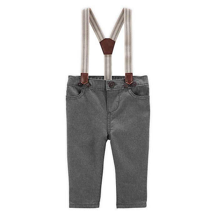 Alternate image 1 for OshKosh B'gosh® Suspender Pant in Charcoal