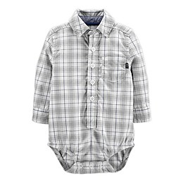 OshKosh B'gosh® Plaid Button-Front Bodysuit