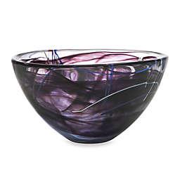 Kosta Boda Medium Contrast Bowl in Black