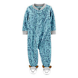carter's® 1-Piece Animal Fleece Footie Pajamas