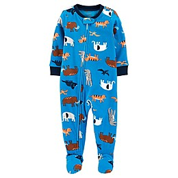 carter's® 1-Piece Animals Fleece Footie Pajamas
