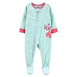 carter's® 1-Piece Corgi Fleece Footie Pajamas