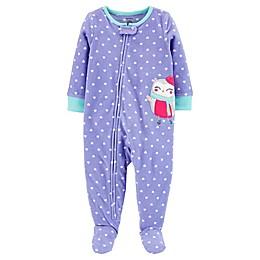 carter's® 1-Piece Owl Fleece Footie Pajamas