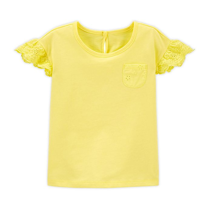 Alternate image 1 for OshKosh B'gosh® Eyelet Jersey Shirt