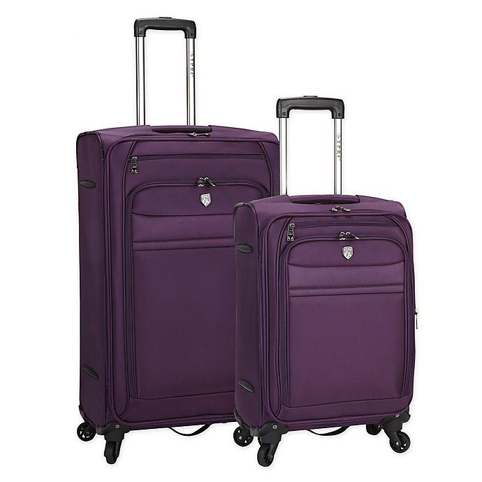 Alternate image 1 for Travelers Club Leningrad Alma 2-Piece Nested Spinner Luggage Set