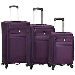Travelers Club Leningrad Alma 3-Piece Nested Spinner Luggage Set in Purple