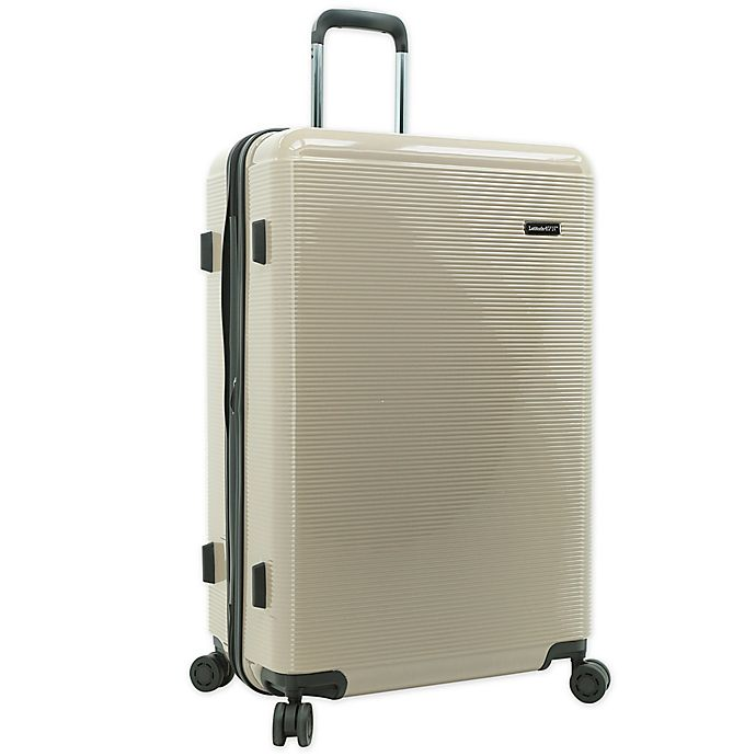 Alternate image 1 for Latitude 40°N® Ascent 2.0 28-Inch Hardside Spinner Checked Luggage in Taupe