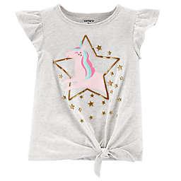 carter's® Glitter Tie-Front Jersey T-Shirt